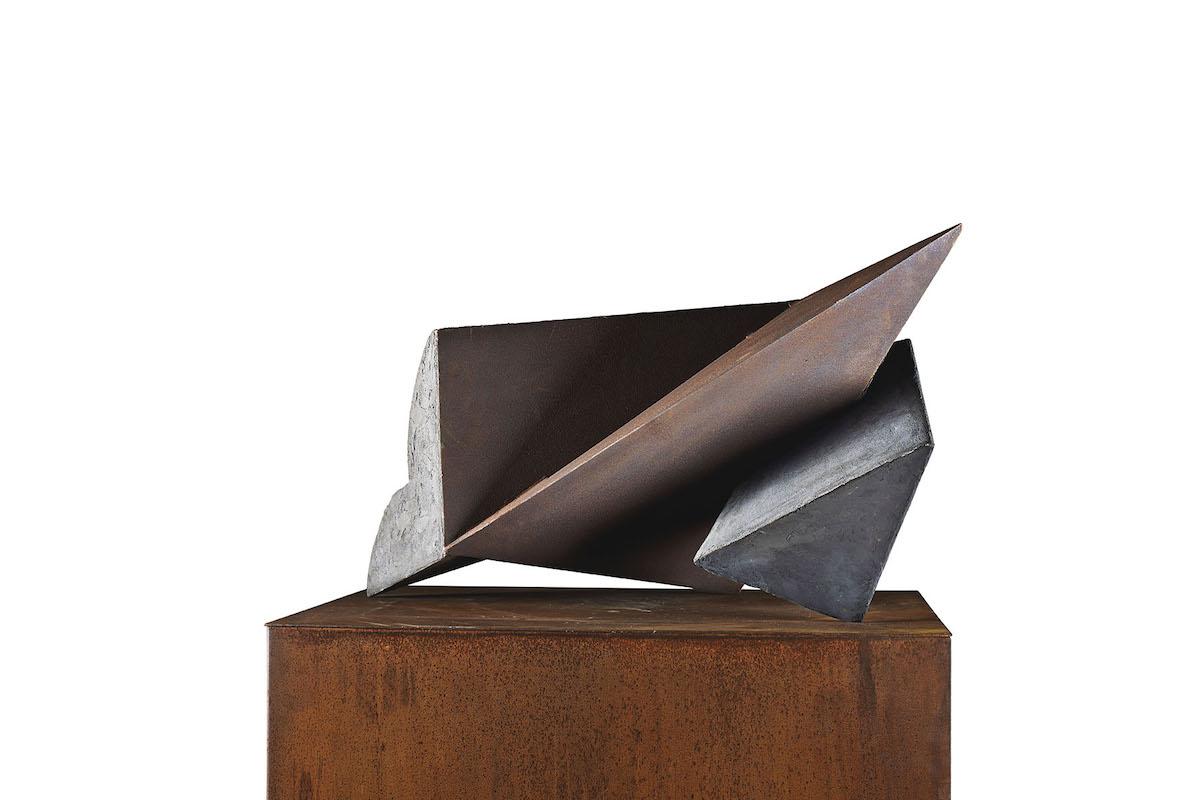 Lucio Scortegagna, 2013, cemento, acciaio, ossidi, 44x77x50 cm