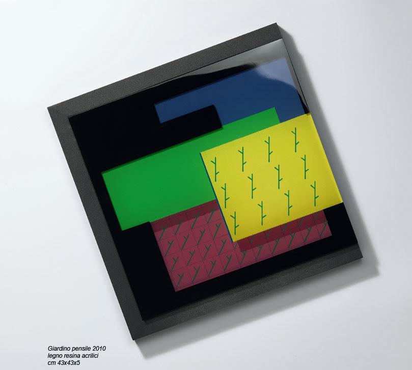 Iler Melioli, 2010, resina, legno, acrilici, cm 43x43x15
