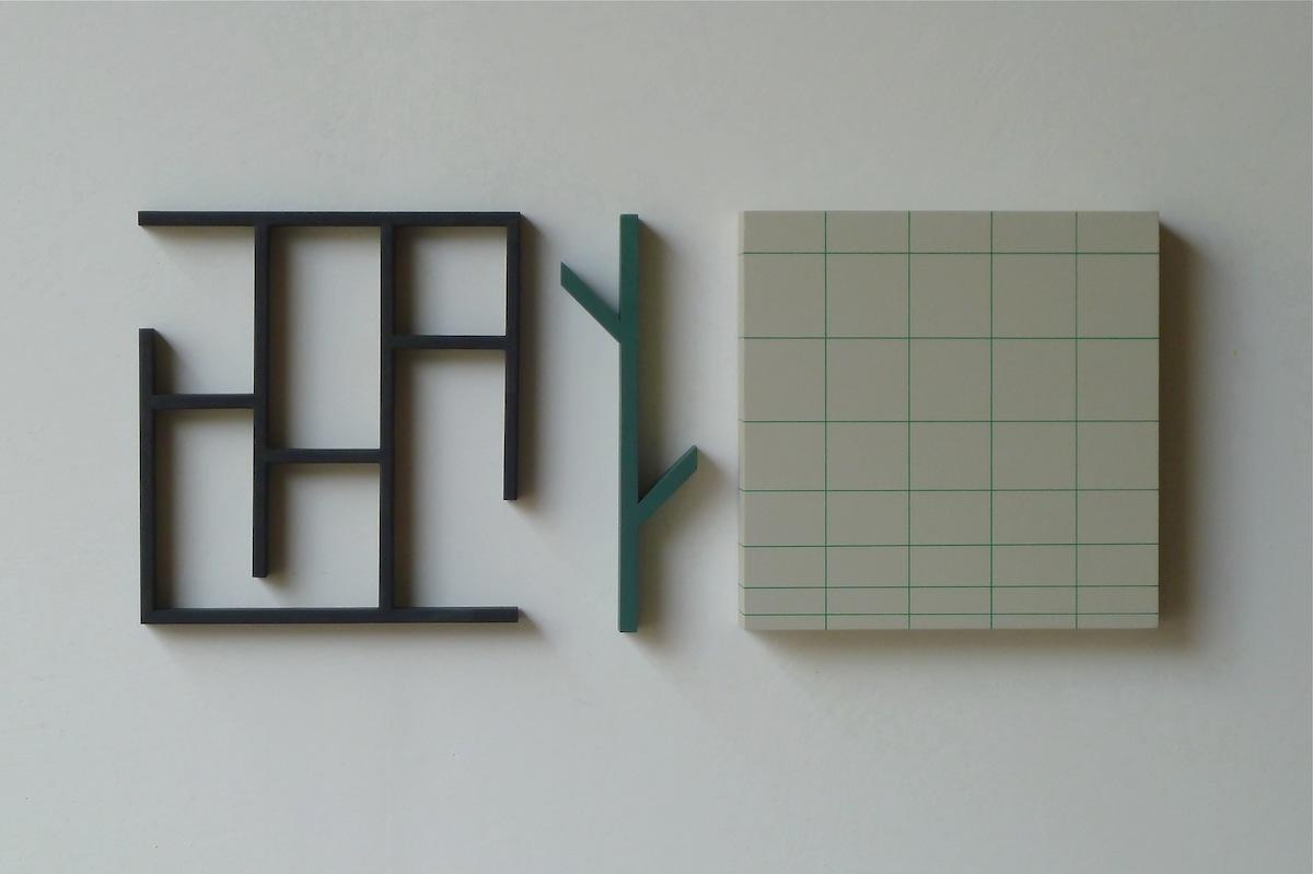 Iler Melioli, 2016 Installazione acrilici su legno cm 74x30x6