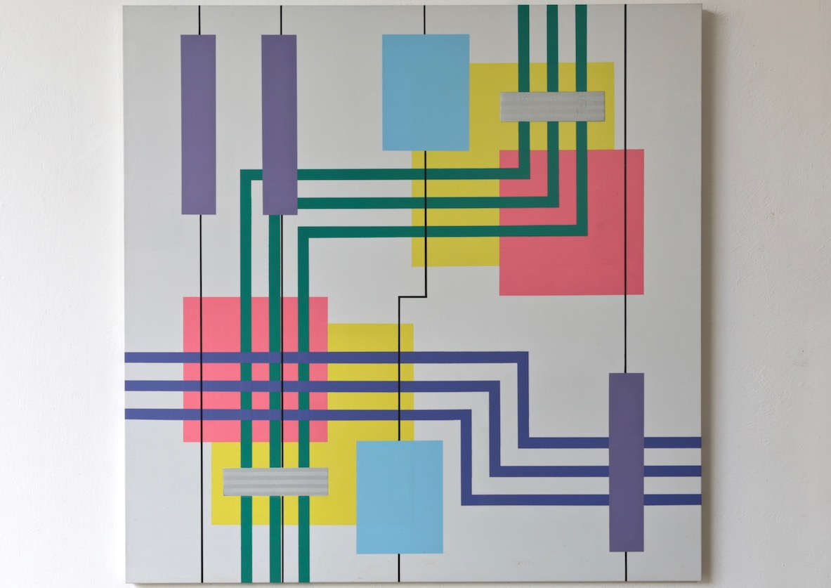 Iler Melioli, Connections 2018 Poliacrilico su pvc cm 100x100