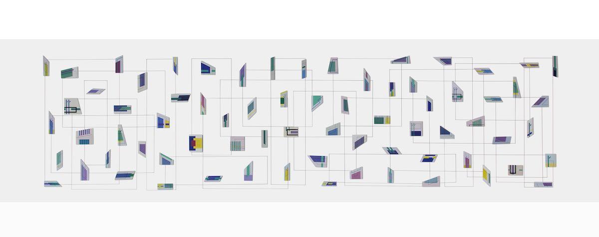 Installazione di frammenti di un linguaggio visivo
