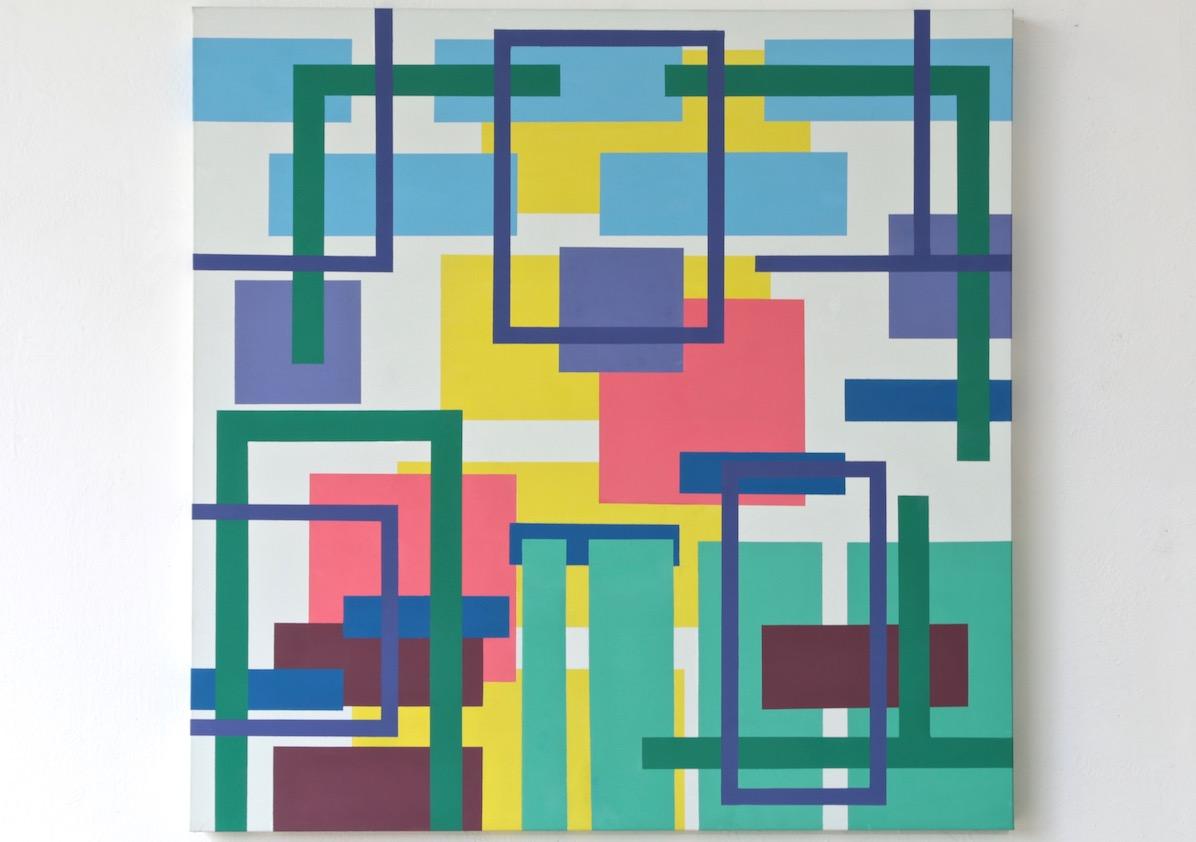 Iler Melioli, Senza titolo 2016, Acrilico su tela cm 100x100