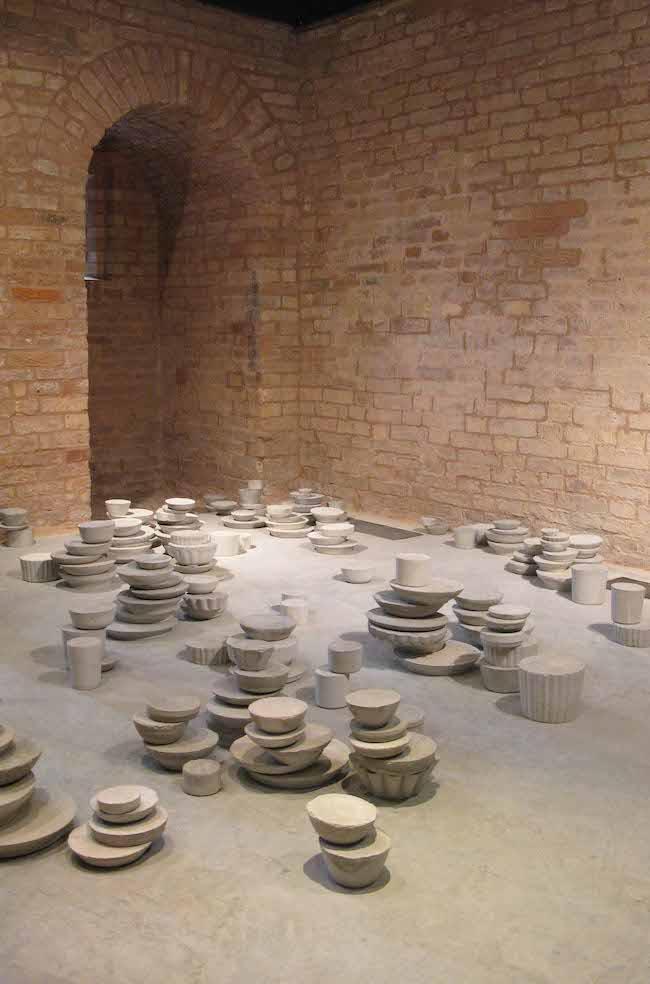 allestimento di Cristina Treppo per la Torre Massimiliana, Isola di Sant'Erasmo