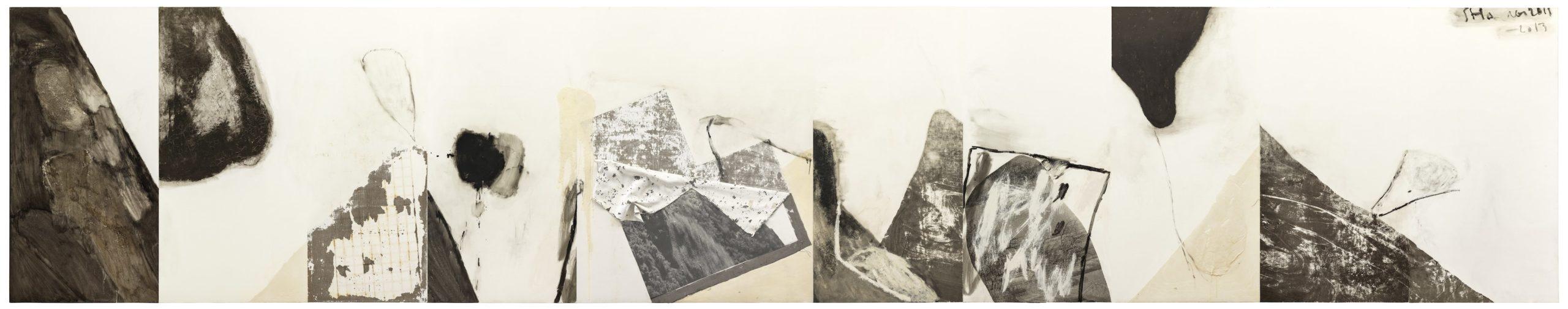 Shang Yang, 2011-2013, Mixed Media on Canvas 270x1403cm