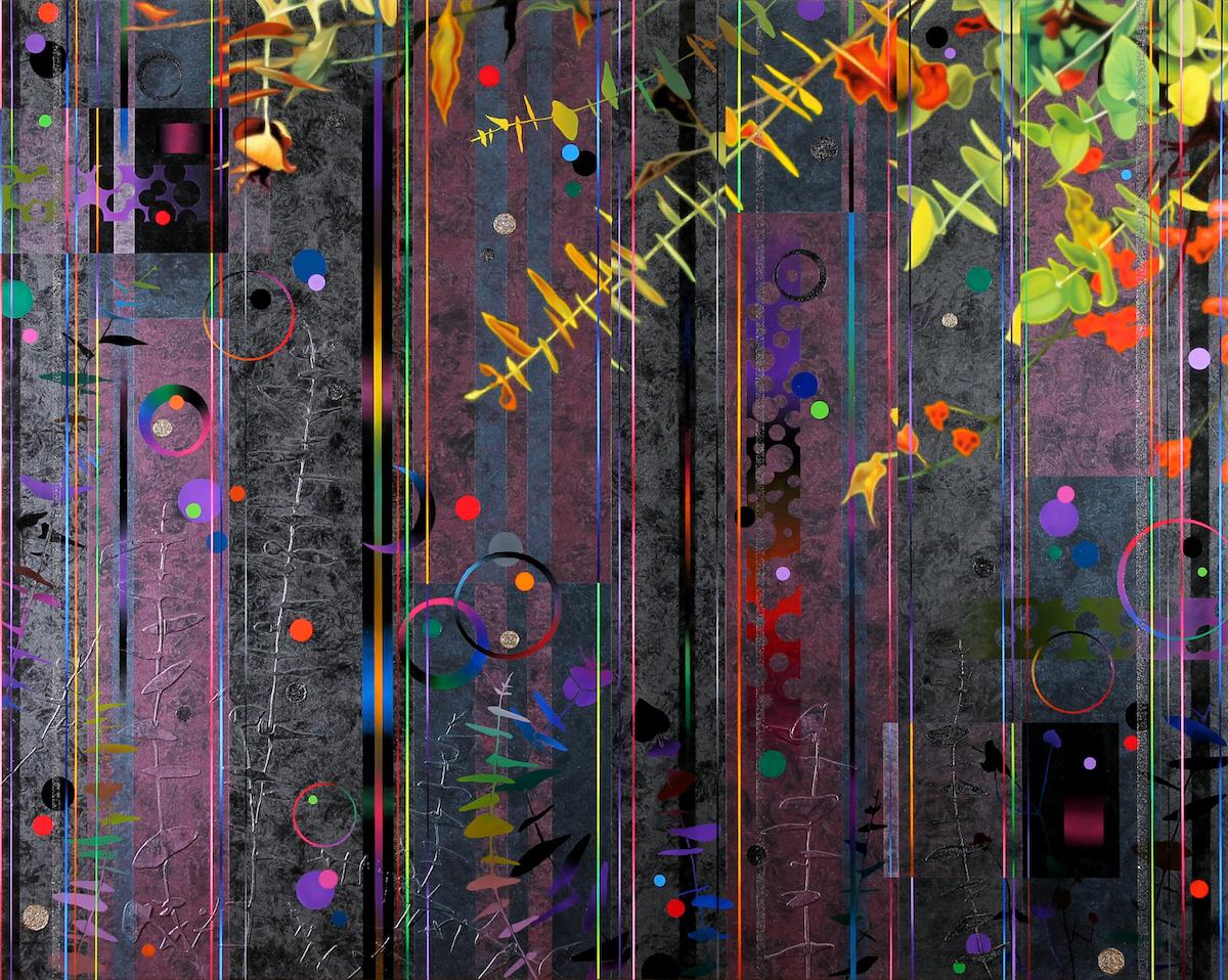 Dany Vescovi, 2017, tecnica mista su lino