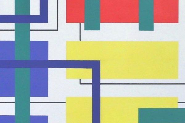 Iler Melioli, Geometrie d'ambiente, 2021, pastelli su carta, dimensioni variabili