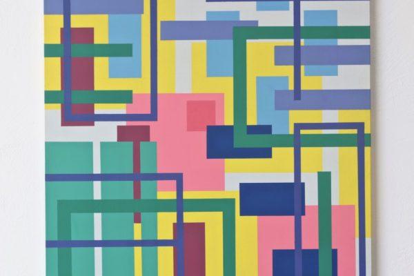 Iler Melioli, Memoria digitale di un paesaggio estivo 2, 2016, Poliacrilici su pvc cm 50x50